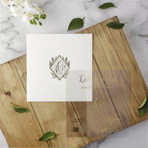 Beyaz Zarflı Eko Polen Davetiye 40101